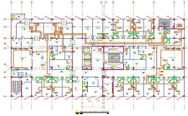 Hospital Building Medical Gas Floor Layout Plan