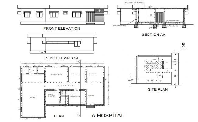 Hospital CAD Drawing