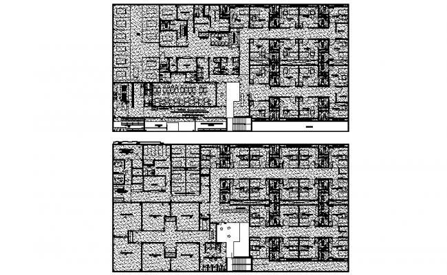 Hospital Construction Design CAD Plan