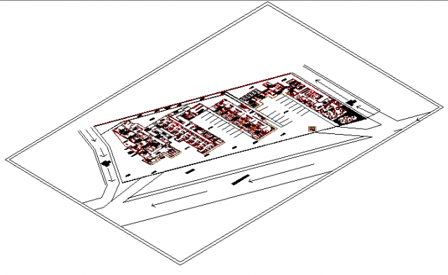 Hospital Emergency Room Isometric View dwg file