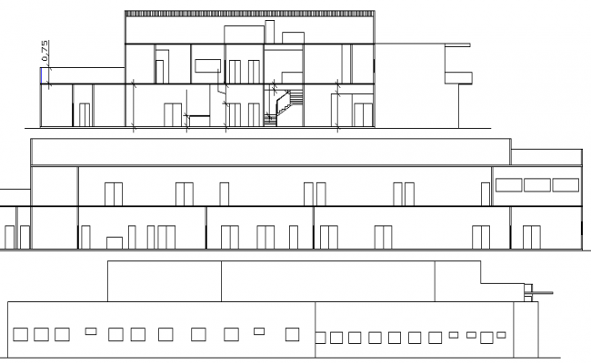 Plan Elevation Section Of Hospital : Hospital floor plan and elevation dwg file