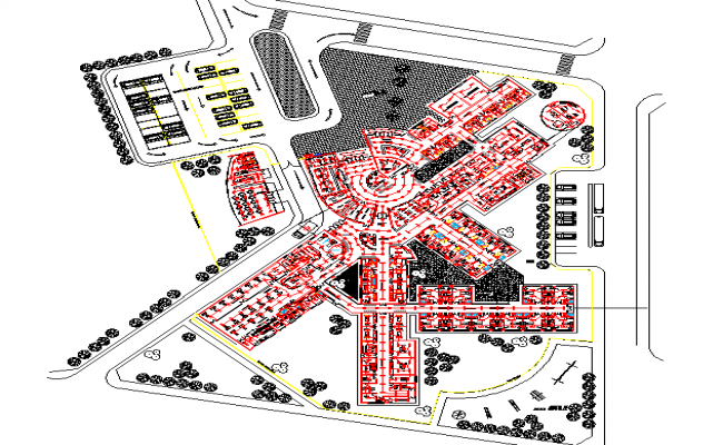 Hospital Layout plan detail dwg file