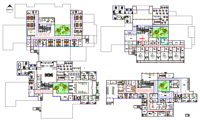 Plan Elevation Section Of Hospital : Hospital layout plan dwg file
