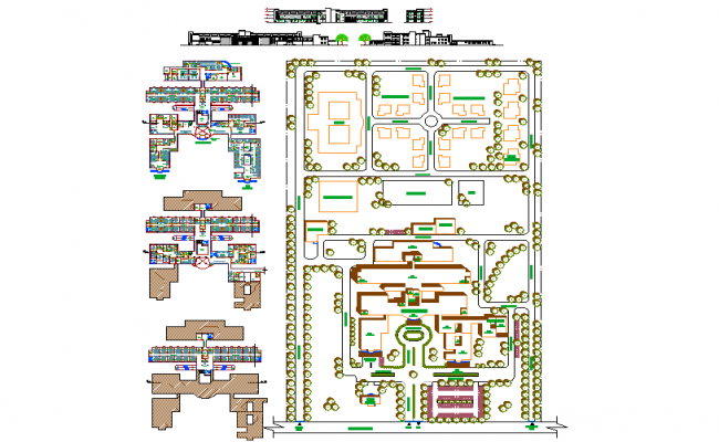 Hospital Layout plan with Detailing