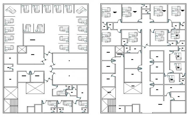 Hospital Plan Drawing AutoCAD File