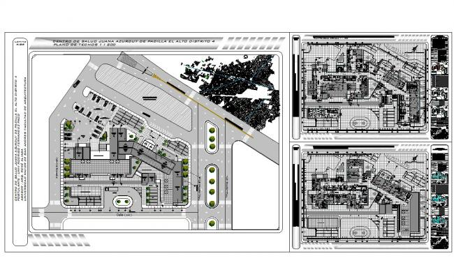 Hospital architecture layout plan cad files
