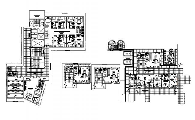 Hospital design with detail dimension in autocad