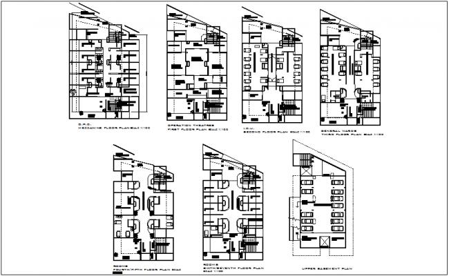 Hospital floor plan view dwg file