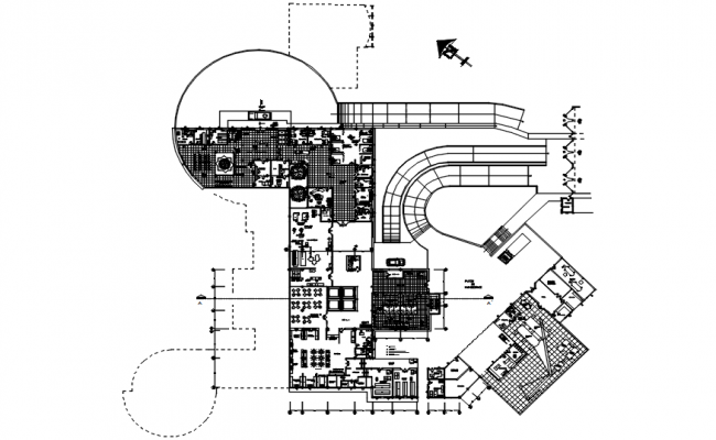 Hospital layout in dwg file