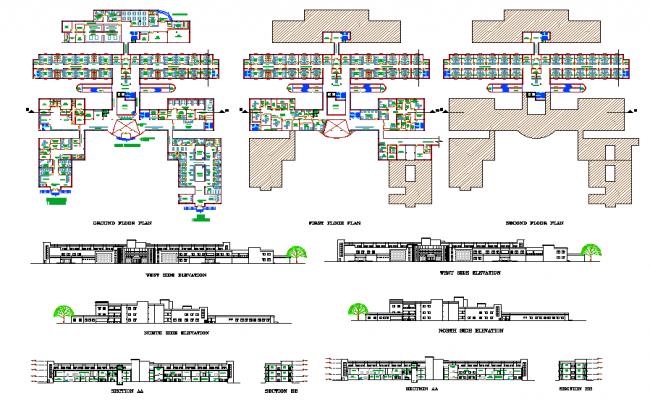 Hospital plan & Elevation design