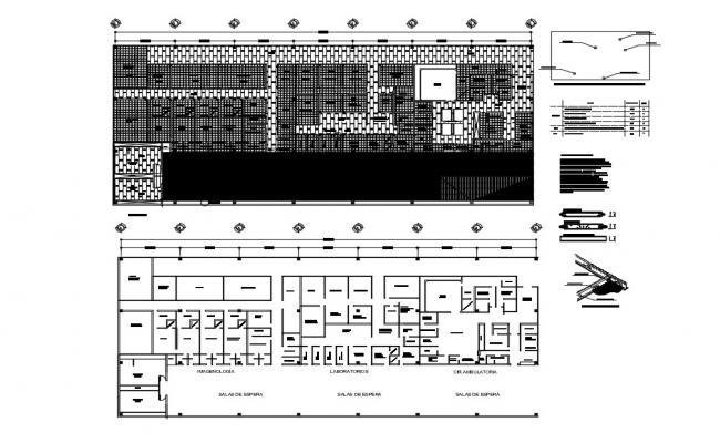 Hospital plan In CAD Blocks