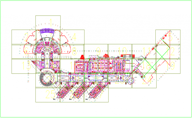 Hospital plan design view dwg file