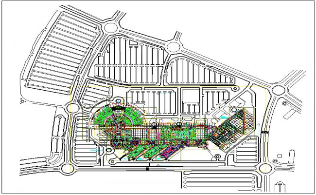 Hospital plan layout design dwg file