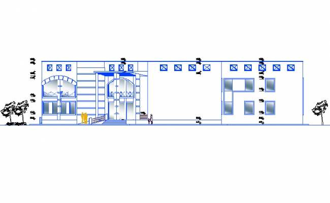 Hospital plans views section renders Elevation detail dwg file