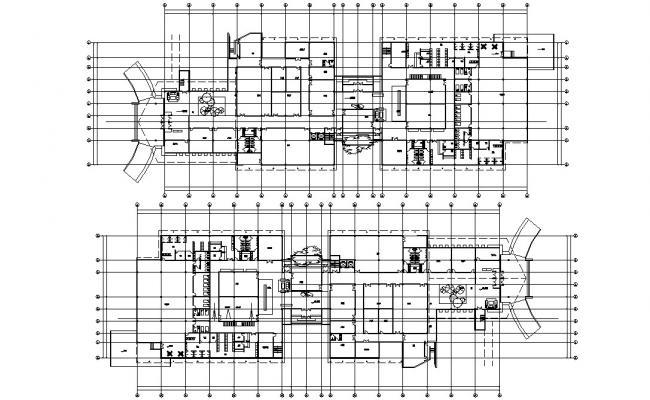 Hostel Building Design Layout Plan