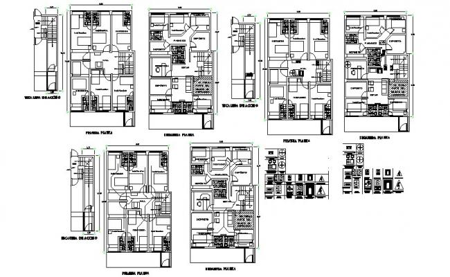 Hostel building floor plan, cover plan and auto-cad details dwg file
