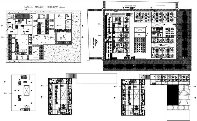 Hotel And Restaurant Plan AutoCAD File