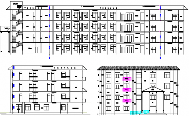 Hotel Architecture Plan and Design dwg file