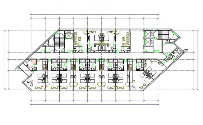 Hotel Bedroom Floor Plan CAD File