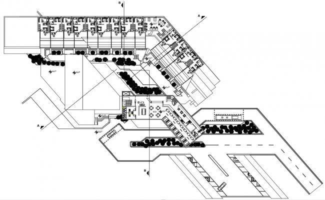 Hotel Design Plan Download CAD file