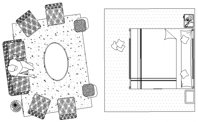 Drawing room layout plan