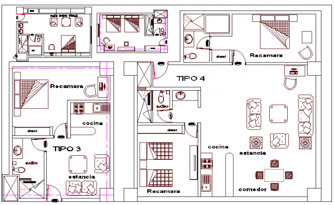 House Layout plan with Different option