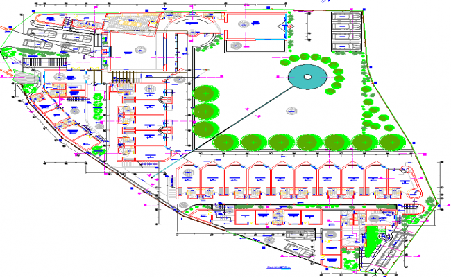 Hotel Layout plan autocad file