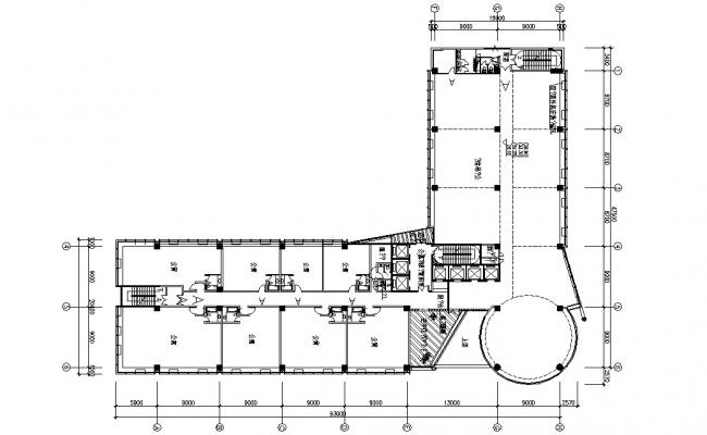 Hotel Floor Plan AutoCAD File Free Download