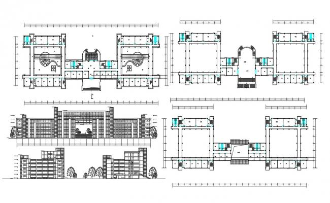 Hotel Floor Plan CAD Drawing