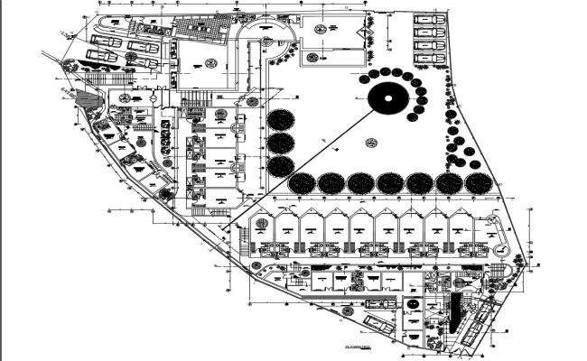 Hotel Layout Plan CAD File