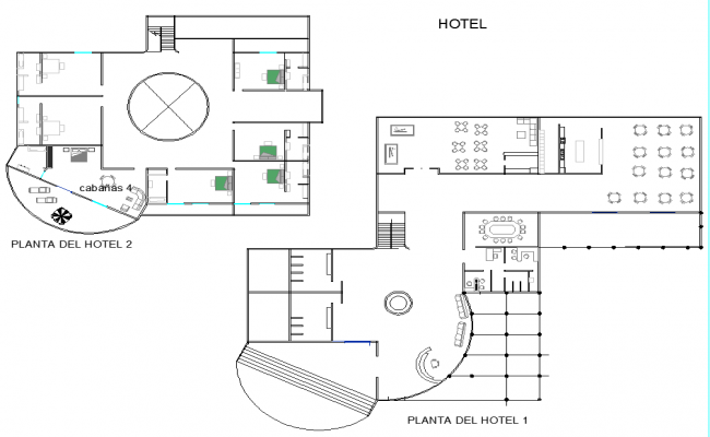 Hotel Layout plan design