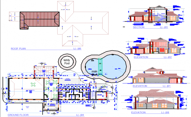 Hotel Project detail dwg file
