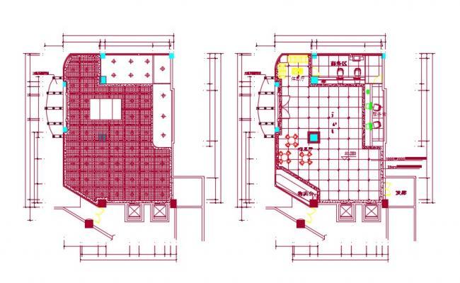 Hotel Reception Floor Plan DWG FIle