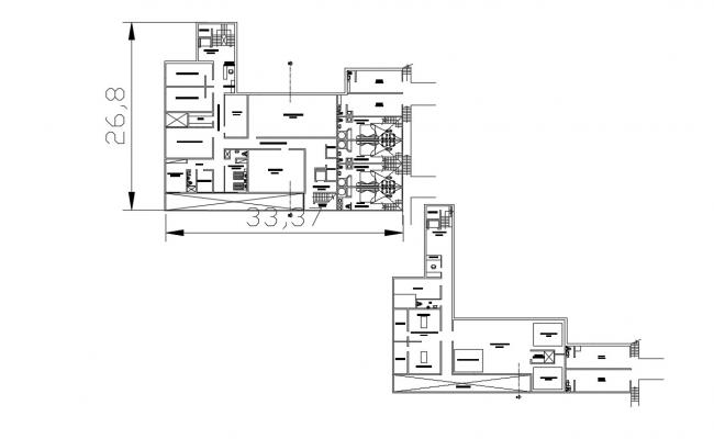 Hotel Room floor plan CAD file Download