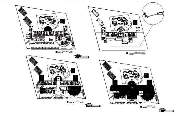 Hotel Sapriche floor plan layout cad drawing details dwg file