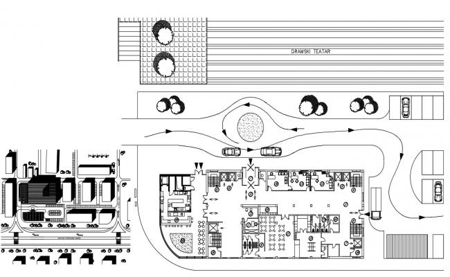 Hotel Site Plan CAD Drawing