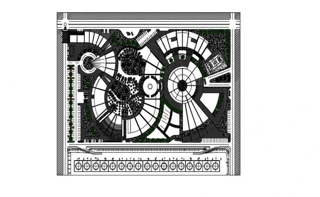Hotel Site Plan In DWG File