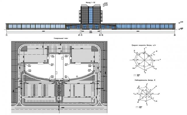Hotel Site Plan With Elevation