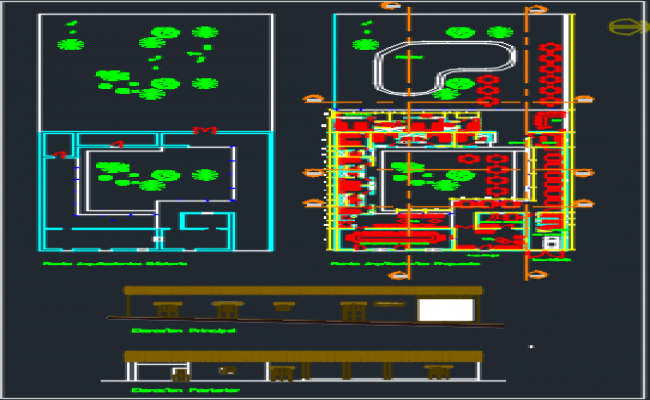 Hotel and meeting center dwg file