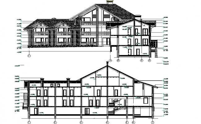 Hotel and resort elevation
