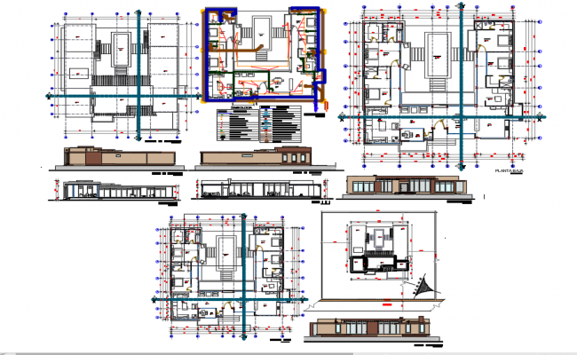 Hotel and restaurants plan dwg file