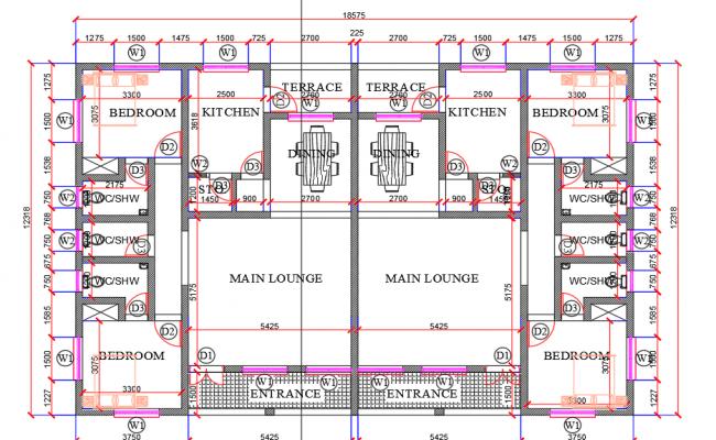 Hotel architectural plan