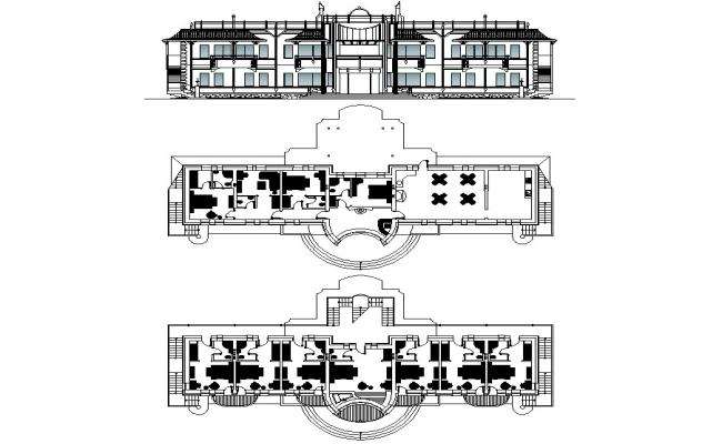 Hotel building design layout plan