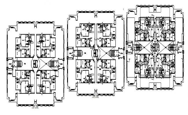 Hotel Architecture Design In AutoCAD File