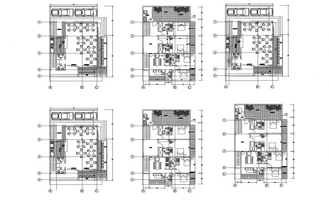 Hotel Ground Floor Plan In DWG File