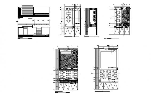 Hotel building structure detail plan and section layout file in autocad format