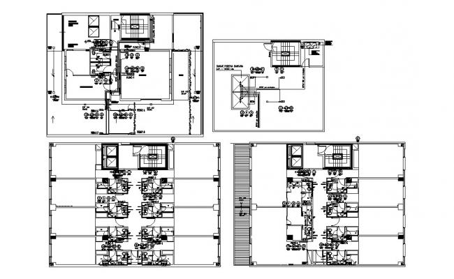 Hotel layout in AutoCAD