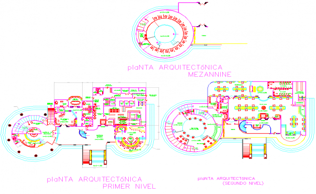 Hotel layout plan with furniture design