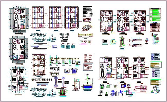 House architectural plan, structural,sanitary & electrical view dwg file