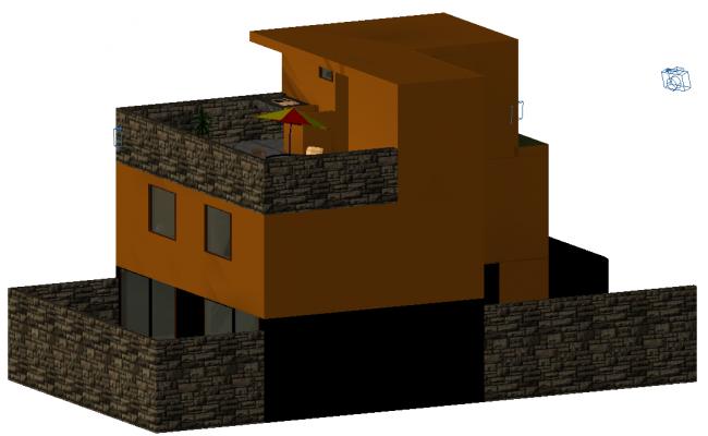House 3 D plan detail autocad file
